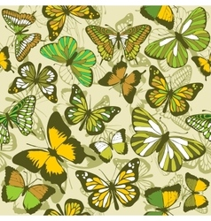Green butterfly wallpaper vector