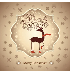 Christmas deer vector