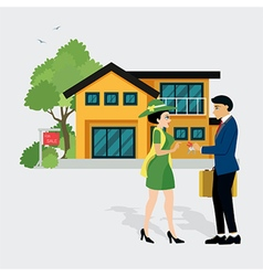 Sell house vector