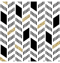 Seamless chevron pattern with glittering gold and vector