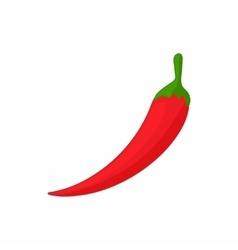 Hot chili pepper icon cartoon style vector