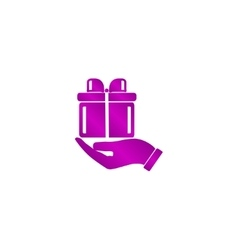 Gift box icon vector