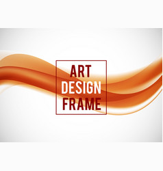 Abstract soft art design template vector