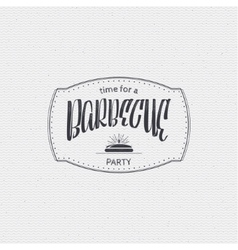 BBQ party - poster sticker badge label icon vector image