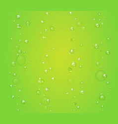creen background with bubbles or drops vector image vector image