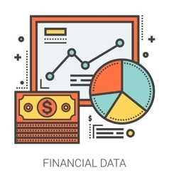 Financial data line infographic vector