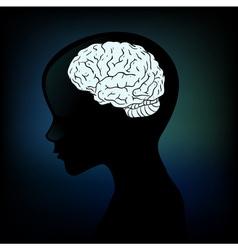 Human anatomical profile silhouette vector image