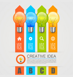 idea of the bulbs in chart vector image