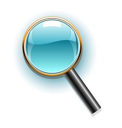 magnifier icon vector image vector image