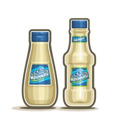 Mayonnaise bottles vector