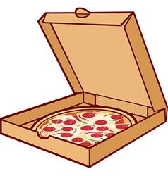 Pizza box icon vector