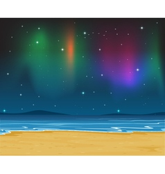 Sea shore evening vector
