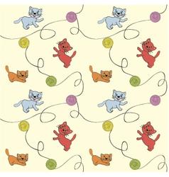 Seamless cats vector