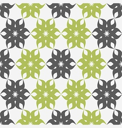 Stylized floral pattern green and gray flower vector