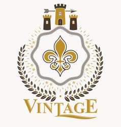Vintage award design vintage heraldic coat of vector