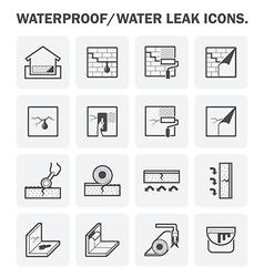 Waterproof basement icon vector