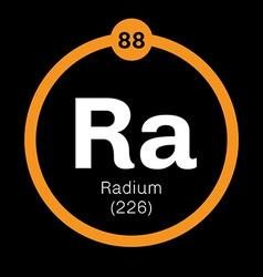 Radium chemical element vector
