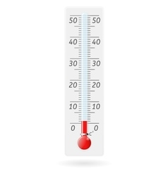 Thermometer celsius above zero value vector