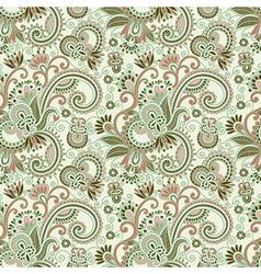 hand draw ornate seamless flower paisley design ba vector image