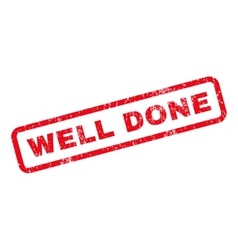 Well Done Rubber Stamp vector image