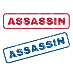 Assassin rubber stamps vector
