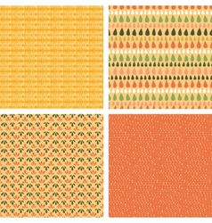 Set of four abstract stripes horizontal seamless vector