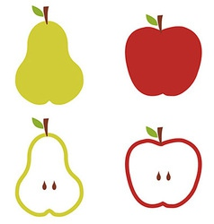 Pear and apple pattern vector