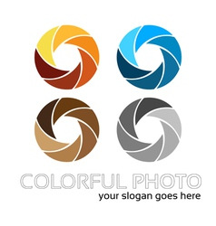 Colorful foto logo 4in1 vector