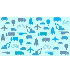 Transport seamless background vector