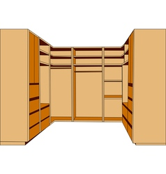 Clothes closet vector