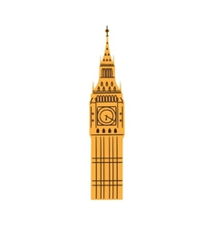 London big ben tower isolated on white vector
