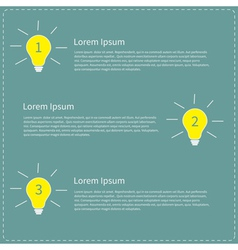 Three step business infographic with yellow white vector