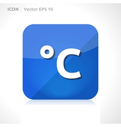 Temperature celsius icon vector