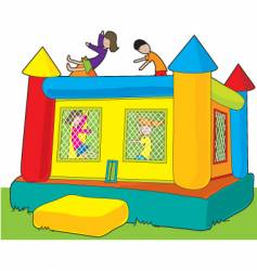 Bounce castle vector