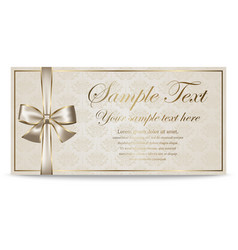 Gift card sertificate coupon invitation vector