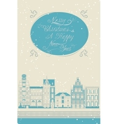 Lovely christmas card with a calligraphy vector