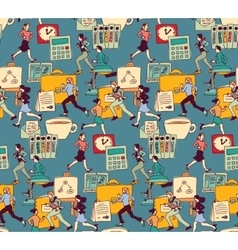 Business people work office run seamless pattern vector
