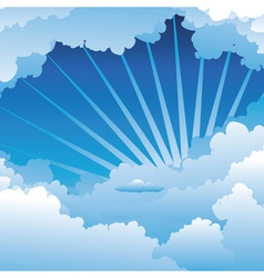 Blue sky with clouds3 vector