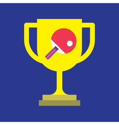 Ping pong and trophy icon  ping pong vector