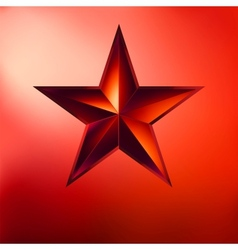 a Red star on red EPS 8 vector image