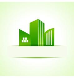 Abstract eco real estate design vector