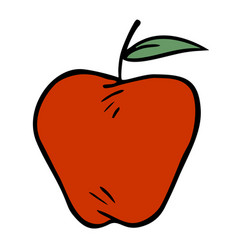 Apple draw vector