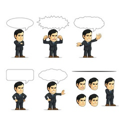 Businessman or Company Executive Customizable 13 vector image vector image
