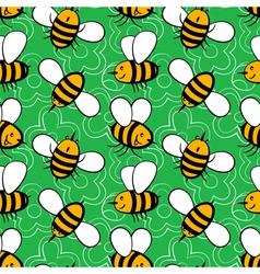 Cartoon bees vector image