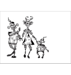 Family Of Robots vector image vector image