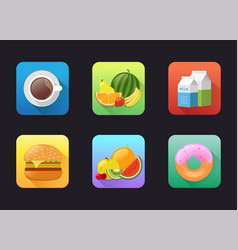 fruits flat icon vector image