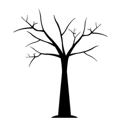 Icon dry tree vector