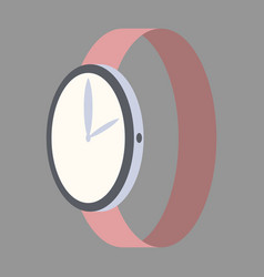 Icon in flat design fashion wrist watch vector