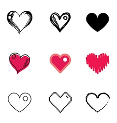 icons heart vector image vector image