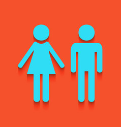 Male and female sign whitish icon on vector